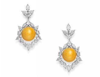 MIKIMOTO 18K白金美乐珍珠耳环配钻石 RMB 4,480,000