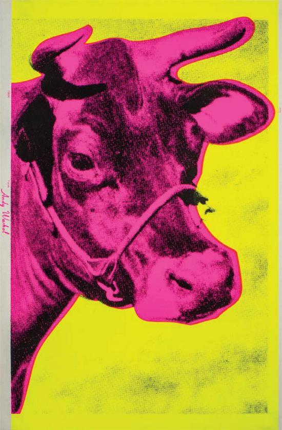 安迪•沃霍尔,奶牛,1966年,胶版印刷,115.6 x 75.6厘米© The Andy Warhol Foundation for the Visual Arts Inc. by VEGAP 2021