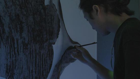 艺术家毛泽皓创作过程