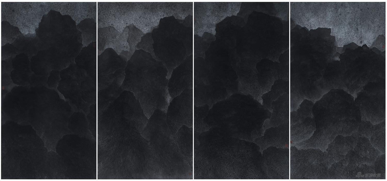 空山图,纸本水墨 Ink on Paper 196×385cm 2016