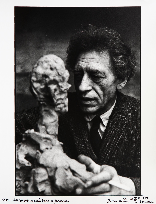 工作中的贾科梅蒂,亨利·卡蒂埃,布列松,摄影,27.8×18.5cm