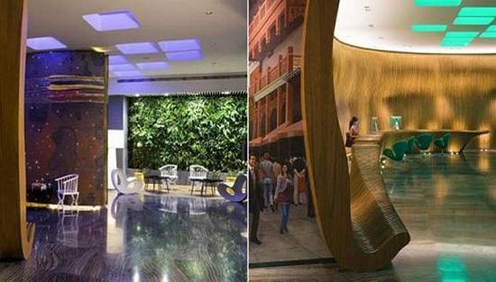 上海外滩英迪格酒店大堂天花板