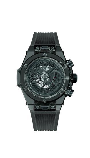 HUBLOT宇舶表Big Bang Unico藍寶石全黑腕錶