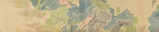 任伯年及其画作《渌水荷花朵朵开》