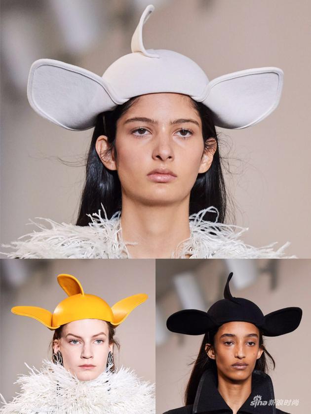 Loewe 2019秋冬秀场上的小飞象帽子