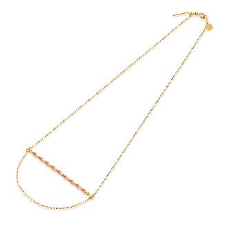 TSL | 謝瑞麟 KUHASHI 细萃系列 18K黄红色黄金项链 参考价格RMB 3,390