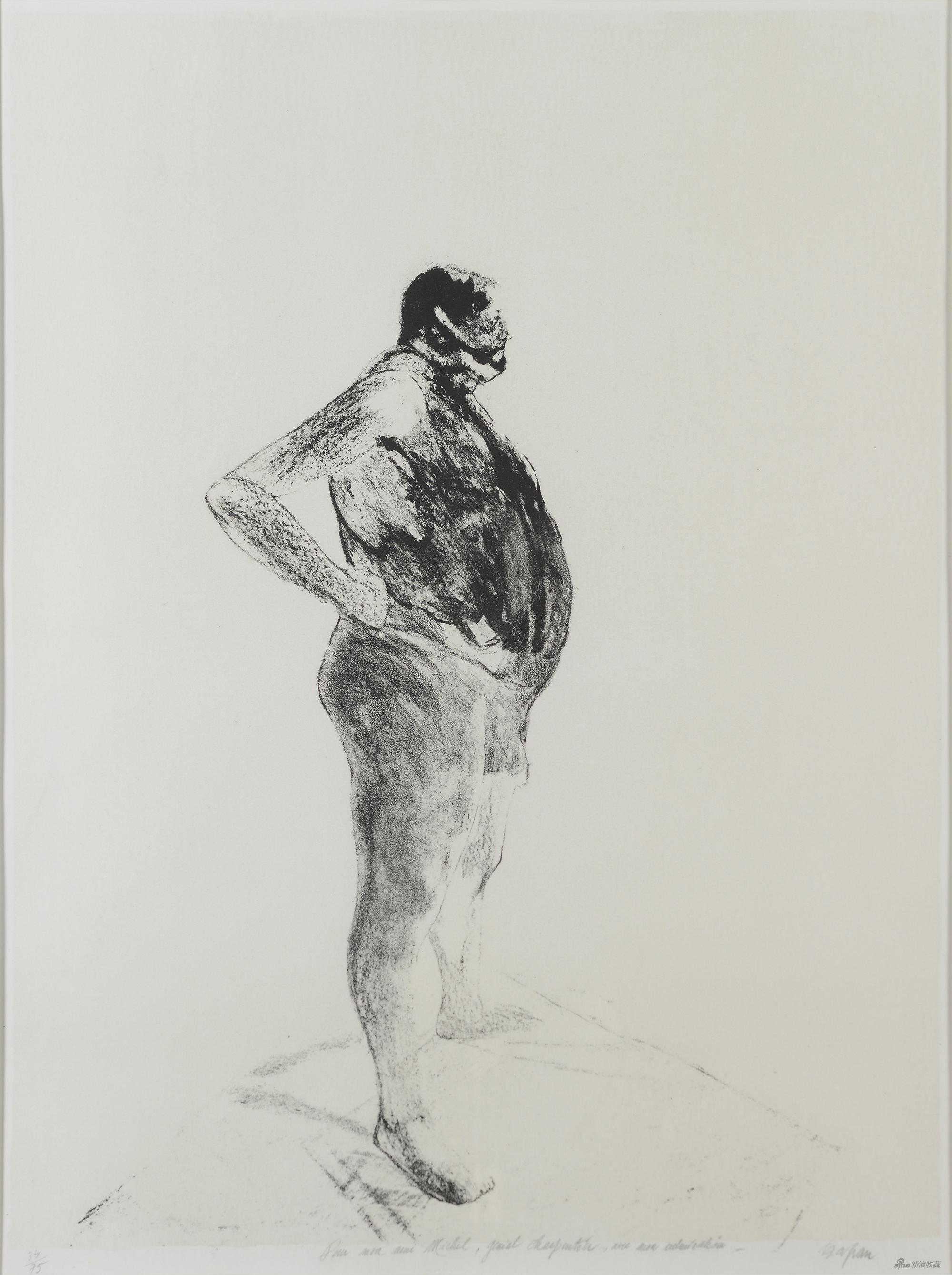 安东尼奥,森·山方,石版画,75×57cm,1967