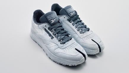 Maison Margiela与Reebok合作推出Bianchetto风格经典皮革系列Tabi运动鞋