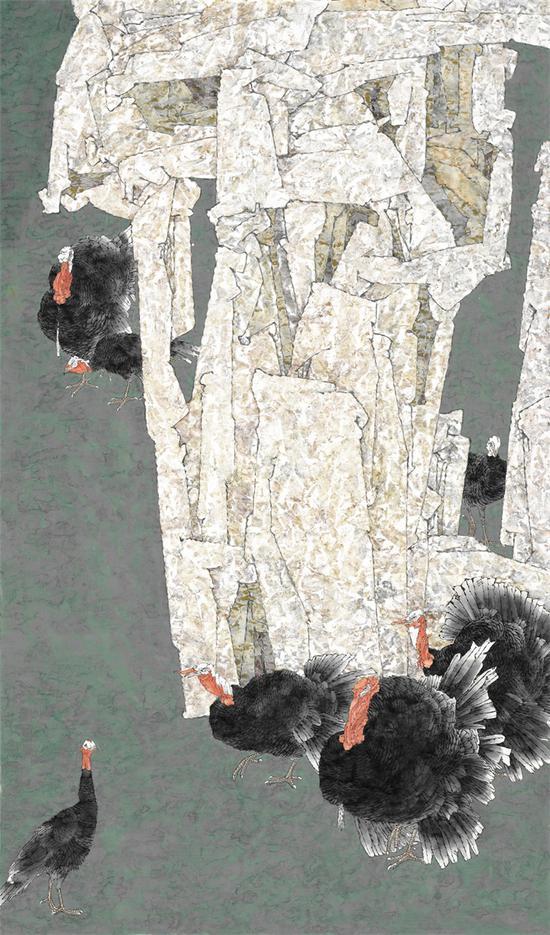 """《十步之内有芳草》,获第九届""""民族百花奖""""中国各民族美术作品展优秀奖"""