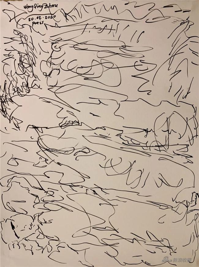王清州作品 纸本马克、软毛笔42cm x 30cm2020