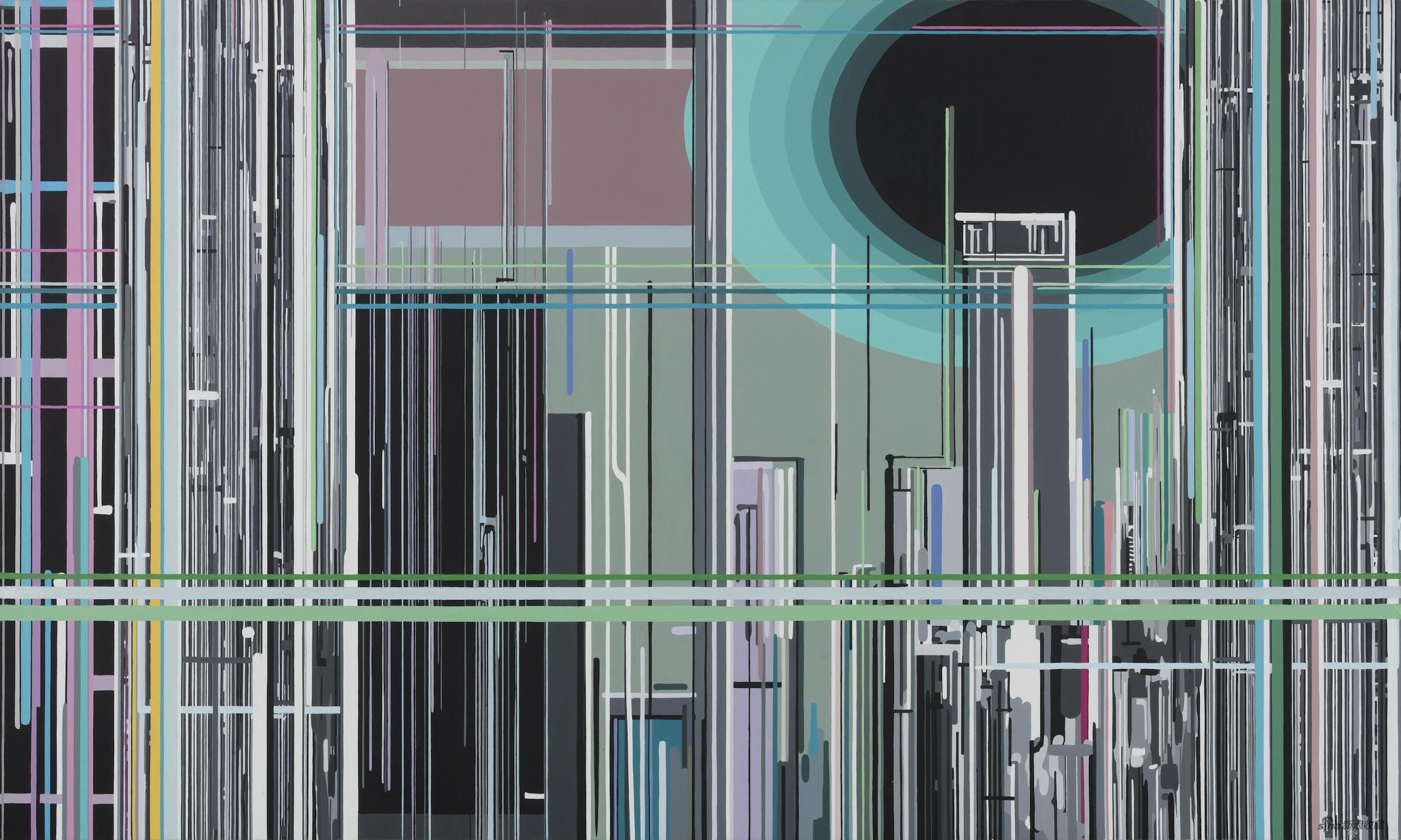 刘韡|Liu Wei  《紫气》 |Purple Clouds  布面油画| Oil on canvas,150 × 240 cm,2009  ?艺术家和华艺国际拍卖
