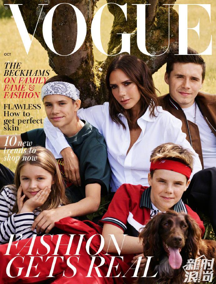 贝克汉姆一家登British《Vogue》十月刊