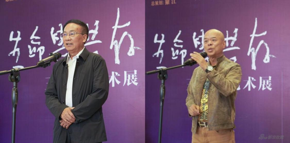 (左)顾问:陈勋儒 原云南省副省长、原云南省政协副主席 (右)总策划:罗江 云南省文联副主席、云南省美协主席、云南画院院长、云南美术馆馆长