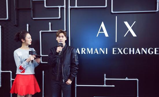"李易峰出席Armani Exchange""New Energy Same Spirit""发布会脱线angel"