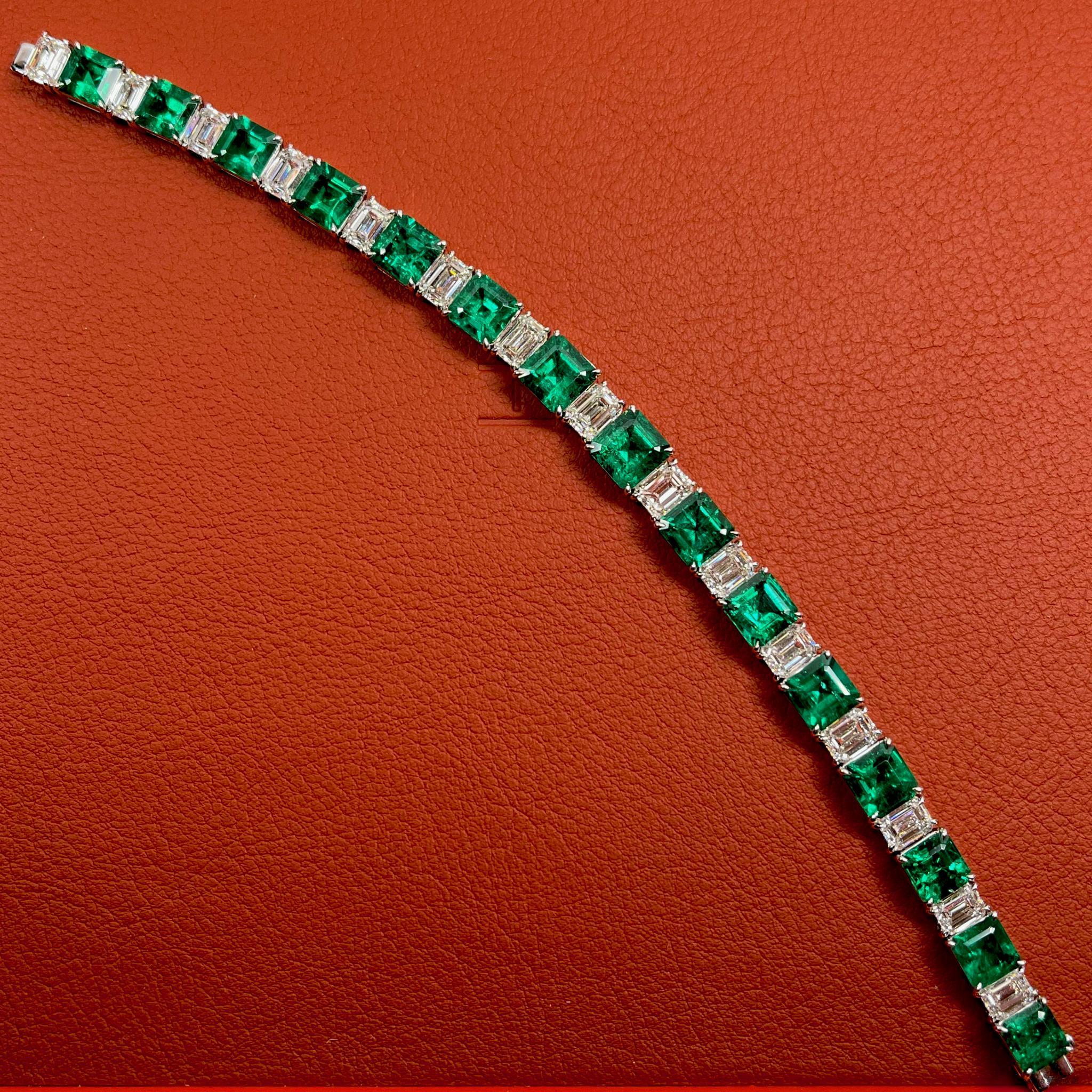 哥倫比亞祖母綠鉆石手鏈 珺豪珠寶