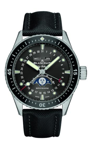 宝珀全新五十�x系列深潜器Bathyscaphe全历月相腕表