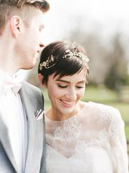 18款性感又可爱的短发新娘造型 短发的准新娘看这里!图片
