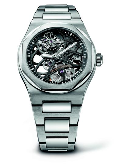 GP芝柏表白金「Laureato Flying Tourbillon Skeleton」_9911053001_53A
