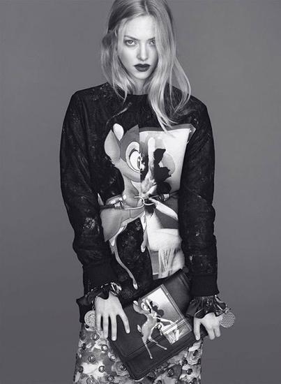 Amanda Seyfried X 小鹿斑比印花Tee