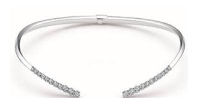 周生生Infini Love Diamond'全爱钻'环形开口18K白金钻石项链