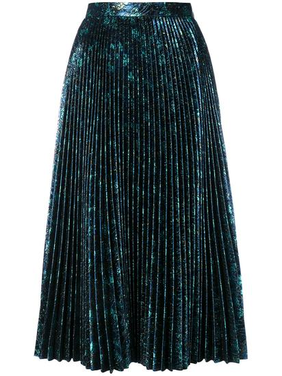 Prada 金属感百褶半身裙 约¥9,480