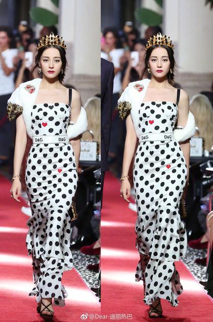 米兰时装周亮相Dolce&Gabbana秀场