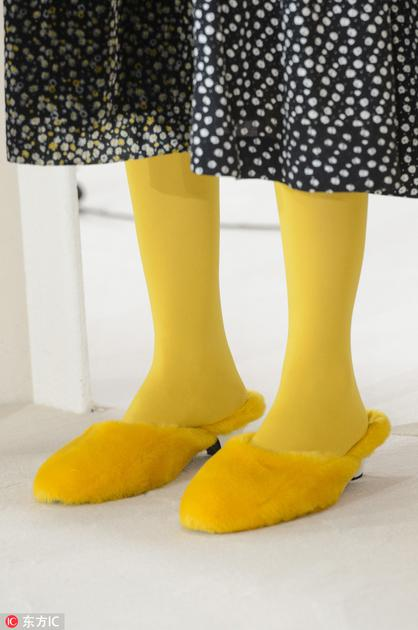 Shrimp黄色丝袜