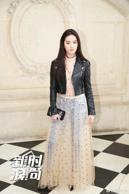 2017年3月刘亦菲出席Dior2017秋冬成衣系列发布秀