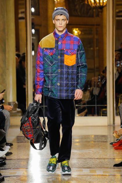 Versace 2018秋冬男装 将格纹进行到底