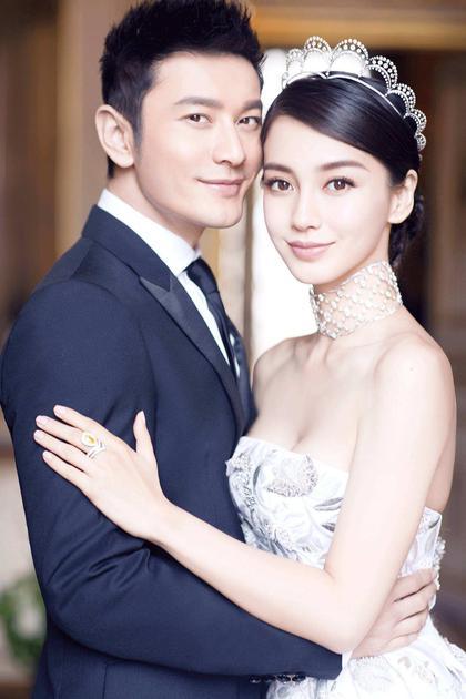 黄晓明和Angelababy婚纱大片