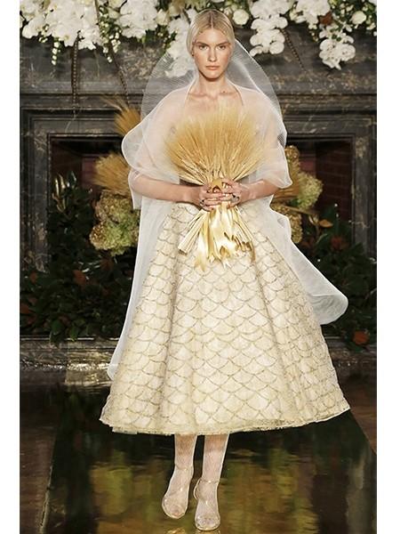 维多利亚风蛋糕裙