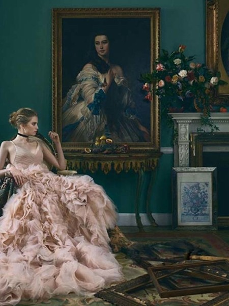 维多利亚古典风婚纱