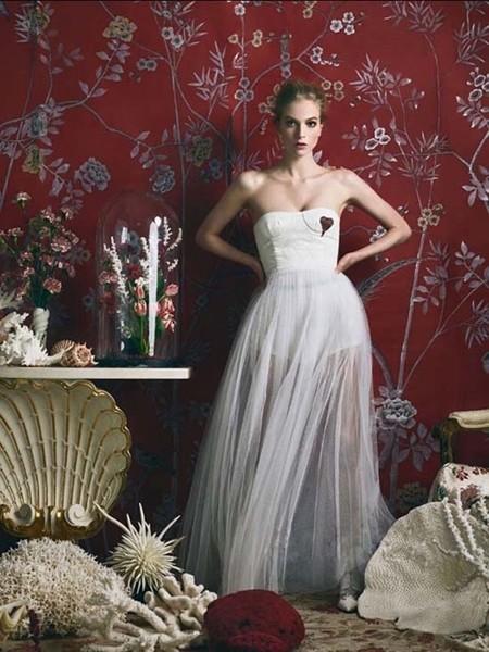 仙气十足的婚纱