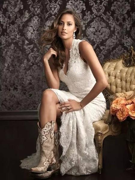 婚纱+靴子