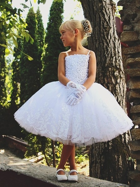 Glittering Flower Girl Dress