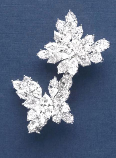 海瑞温斯顿Butterfly造型钻石胸针 总重约8.31克拉,镶嵌于铂金底座。