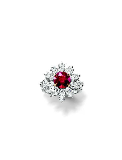 海瑞温斯顿凝世风华The Incredibles高级珠宝系列红宝石钻石戒指