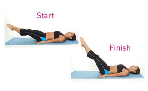 动作一:仰卧举腿