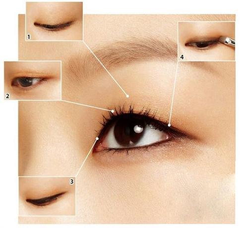 单眼皮的妆容画法