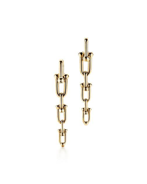 Tiffany & Co. 蒂芙尼HardWear系列18K黄金渐变链环耳坠