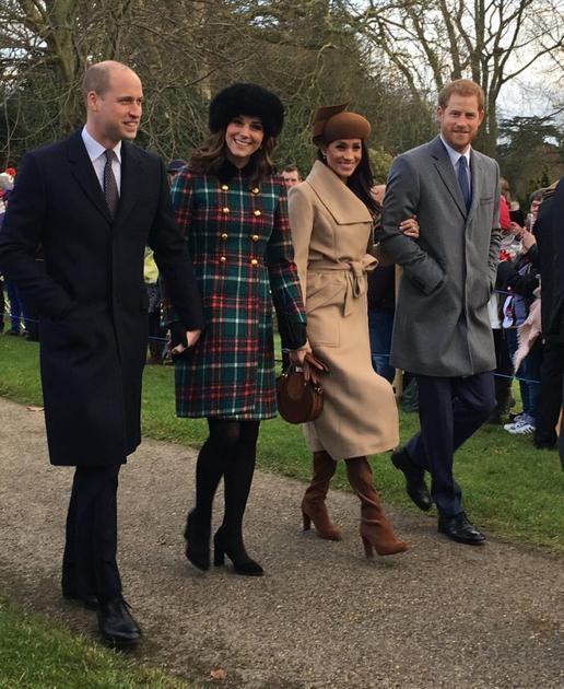 英国平民王妃同框