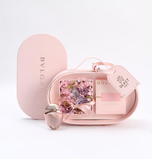 BVLGARI x THE BEAST 情人节定制款永生花香水皮盒
