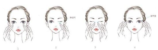 涂抹眼霜的手法