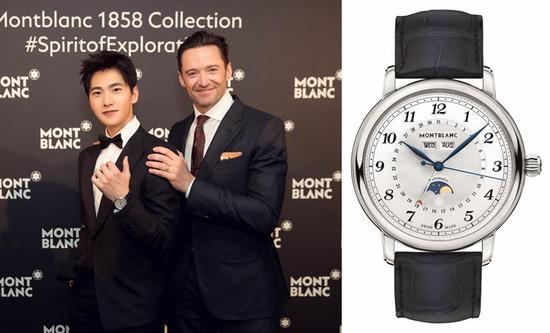 杨洋佩戴全新万宝龙明星系列全历腕表