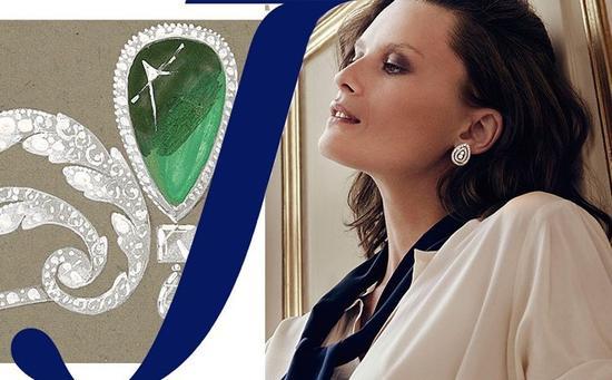 CHAUMET Joséphine 加冕?爱 夜圆·星辰系列 铂金耳环