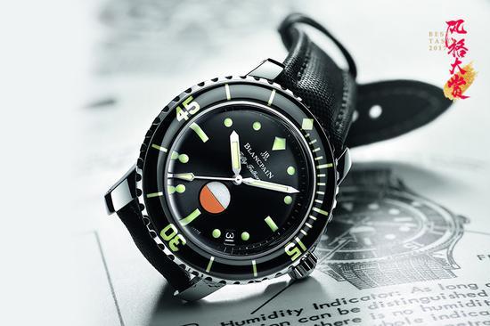 宝珀Blancpain赤忱复刻五十噚系列MIL-SPEC腕表
