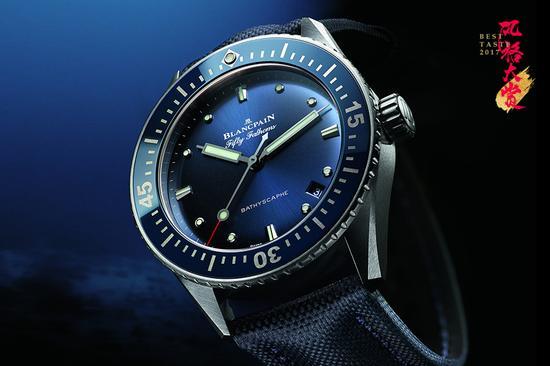宝珀Blancpain五十噚深潜器Bathyscaphe大三针腕表