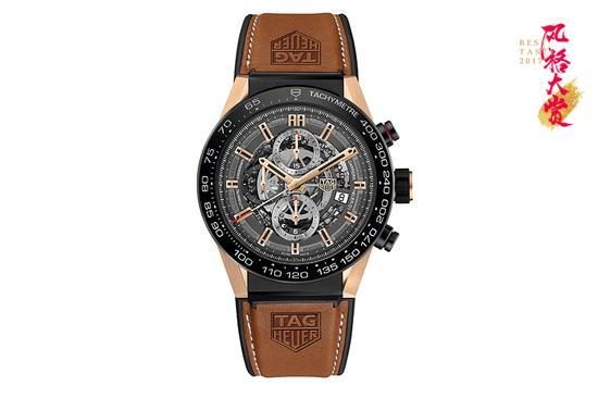 泰格豪雅 Carerra卡莱拉系列 Heuer-01玫瑰金款腕表