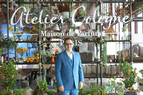 ▲ Atelier Cologne欧珑·品牌创始人之一Christophe Cervasel