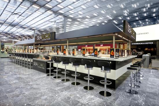 巴黎机场餐厅